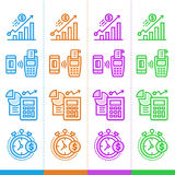 Vector set of linear icons, finance, banking. Suitable for websi. Premium quality modern icons for your design Stock Image