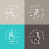 Vector set of linear icons Stock Images
