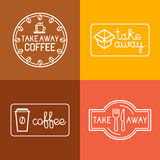 Vector set of linear labels Stock Images