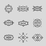 Vector set of linear retro badges, labels, logo Stock Images