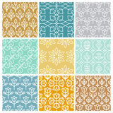 Vector set of linear simple patterns Royalty Free Stock Image