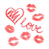 Vector set of lips prints Royalty Free Stock Photography