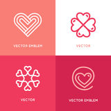 Vector set of logo design elements and templates Royalty Free Stock Photo
