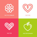 Vector set of logo design elements and templates Stock Photo