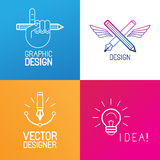 Vector set of logo design elements Royalty Free Stock Photography