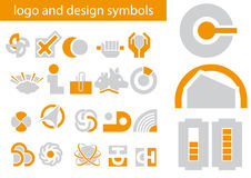 Vector set of logo and design symbols. Abstract vector illustrations of logo and design symbols Stock Photos