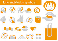 Vector set of logo and design symbols Royalty Free Stock Photography