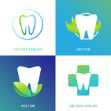 Vector set of logo design template in bright gradient color Stock Image