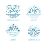 Vector set of logo design template in trendy linear style Stock Image