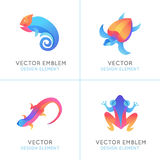 Vector set of logo design templates in bright gradient colors Stock Photo
