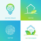 Vector set of logo design templates Stock Photos