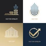 Vector set of logo design templates and emblems Stock Photos