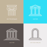 Vector set of logo design templates, emblems and icons Stock Photography
