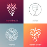 Vector set of logo design templates and emblems Stock Images