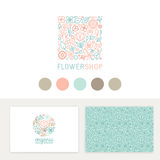 Vector set of logo design templates, seamless patterns and signs Stock Photography