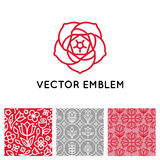 Vector set of logo design templates, seamless patterns and signs Royalty Free Stock Photo
