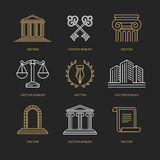 Vector set of logo design templates Royalty Free Stock Photos