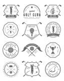 Vector set of logos and icons golf clubs Stock Photo