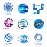 Global vector set Stock Images