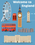 Vector set of the London famous place and landmark Stock Image