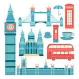 Vector set of London Royalty Free Stock Images