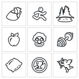 Vector Set of Long Life Icons. Stock Photo