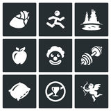 Vector Set of Long Life Icons.  Stock Photography