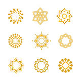Vector set Luxury Calligraphic design elements and page decoration Stock Photography
