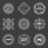 Vector set of luxury logo. Premium quality emblems Stock Photography
