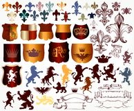Vector set of luxury royal vintage elements for your heraldic de Royalty Free Stock Photos