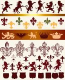 Vector set of luxury royal vintage elements for your heraldic de Royalty Free Stock Image