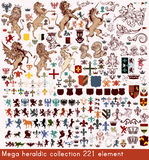 Vector set of luxury royal vintage elements for your heraldic de Royalty Free Stock Images