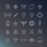 Vector set of magical and alchemy signs Stock Photography