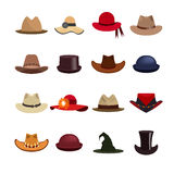 Vector set of man and woman hats. Stock Photography
