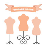 Vector set of mannequins. Manikins for tailors, designers, clothes stores. Royalty Free Stock Photography
