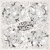 Vector set of Massage and Spa doodle designs Stock Photo