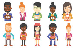 Vector set of maternity and parenthood. Royalty Free Stock Photography
