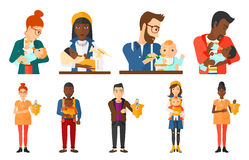 Vector set of maternity and parenthood. Stock Images