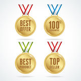 Vector. Set of medals. Sale concept Royalty Free Stock Photography