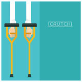 Vector set Medical equipment Crutches icon hand and arm long Royalty Free Stock Photos