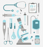 Vector set of medical icons. Vector set of various medical icons Stock Photography