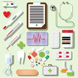 Vector set of medical icons Stock Photo