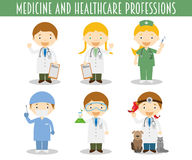 Vector Set of Medicine and Healthcare Professions Royalty Free Stock Images