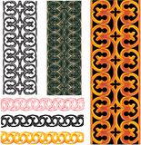 Vector set of medieval patterns Royalty Free Stock Photography