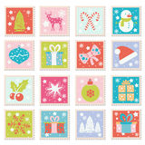 Vector set of Merry Christmas, Happy New Years greeting cards. Vector collection of Merry Christmas and Happy New 2017 Year design elements with holiday symbols Royalty Free Stock Photos
