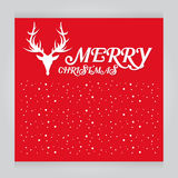 Vector set Merry Christmas red Greeting Card Typography Retro Style Royalty Free Stock Images