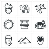 Vector Set of Middle East Icons.  Stock Images