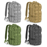 Vector set Military Backpacks Stock Image