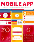 Vector set of mobile app layout templates Royalty Free Stock Images