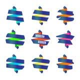 Vector : Set of Modern abstract ribbons badge Stock Photography
